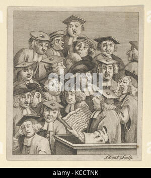 Scholars at a Lecture, After William Hogarth, ca. 1800 - Stock Photo