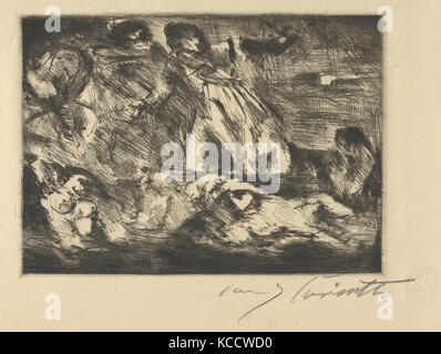 The Barque of Dante, 1920–21, Drypoint, Sheet: 11 11/16 x 17 5/8 in. (29.7 x 44.8 cm), Prints, Lovis Corinth (German, - Stock Photo