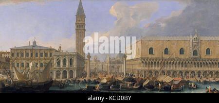 The Molo, Venice, from the Bacino di San Marco, Luca Carlevaris, ca. 1709 - Stock Photo