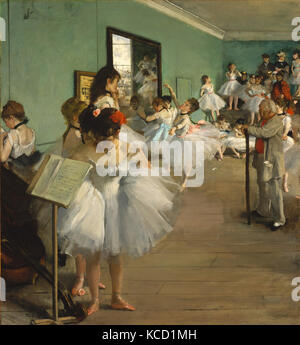 The Dance Class, 1874, Oil on canvas, 32 7/8 x 30 3/8 in. (83.5 x 77.2 cm), Paintings, Edgar Degas (French, Paris - Stock Photo