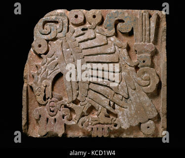 Eagle Relief, 10th–13th century, Mexico, Mesoamerica, Toltec, Andesite/dacite, paint, Overall: 24 1/2 x 30 1/2 in., - Stock Photo