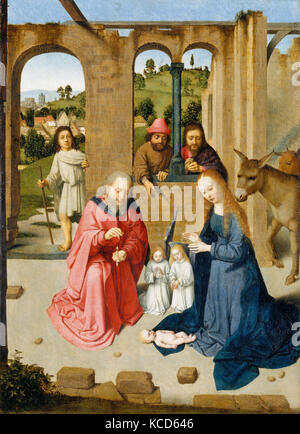 The Nativity, early 1480s, Oil on wood, Overall 18 3/4 x 13 1/2 in. (47.6 x 34.3 cm), painted surface 18 1/2 x 13 - Stock Photo