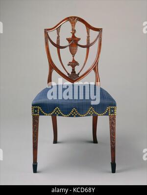 Side Chair, 1794–99, Made in Salem, Massachusetts, United States, American, Mahogany, ebony, ash, birch, white pine, - Stock Photo