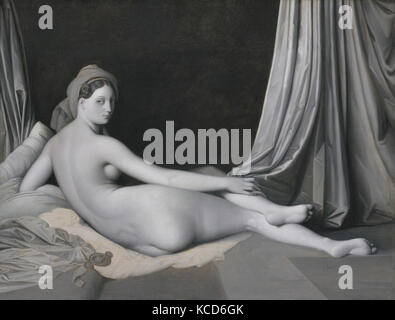 Odalisque in Grisaille, Jean Auguste Dominique Ingres, ca. 1824–34 - Stock Photo