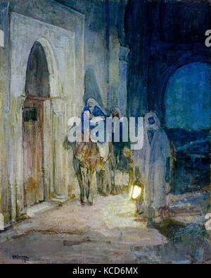 Flight Into Egypt, 1923, Oil on canvas, 29 x 26 in. (73.7 x 66 cm), Paintings, Henry Ossawa Tanner (American, Pittsburgh - Stock Photo