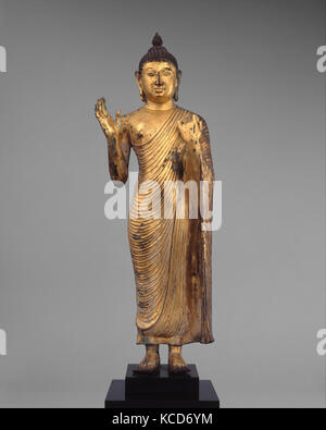 Buddha Offering Protection, late Anuradhapura (8th–10th century)–Polonnaruva pd. (993–1235), 10th century, Sri Lanka - Stock Photo