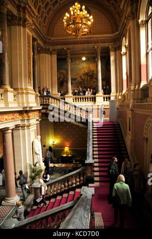 The Grand Staircase designed by Sir George Gilbert Scott at the Foreign and Commonwealth Office on King Charles - Stock Photo