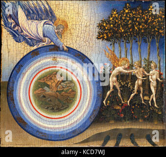The Creation of the World and the Expulsion from Paradise, Giovanni di Paolo, 1445 - Stock Photo