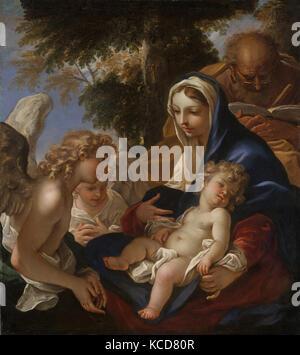 The Holy Family with Angels, Sebastiano Ricci, ca. 1700 - Stock Photo