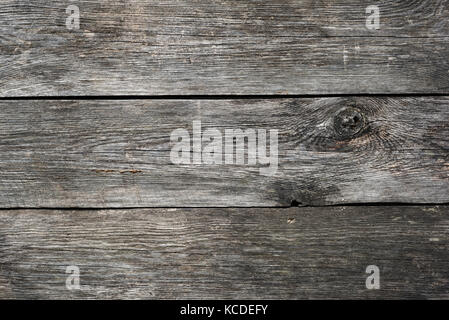 Grey wooden background texture. Wooden planks. Horizontal view - Stock Photo