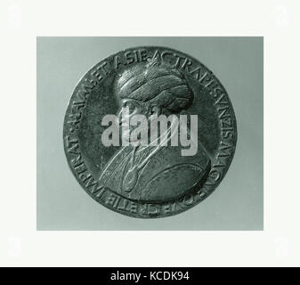 Medal: Sultan Mehmed II, Bertoldo di Giovanni, model 1480 (old aftercast - Stock Photo