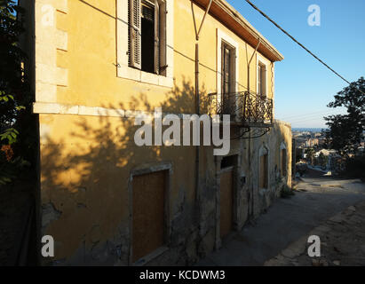 Derelict house in Paphos old town, Paphos Cyprus. - Stock Photo