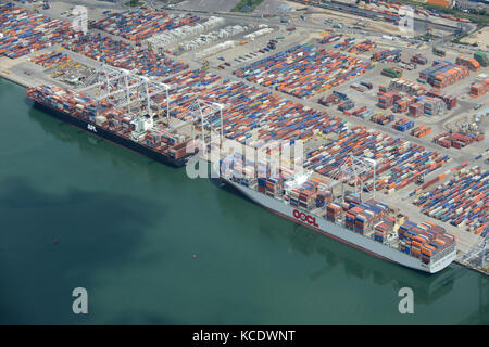 Southampton Container Port - Stock Photo