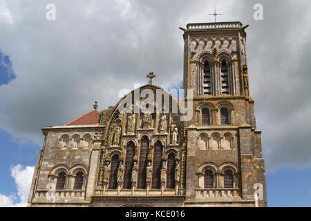Basilica St. Mary Magdalene, Vézelay - Stock Photo