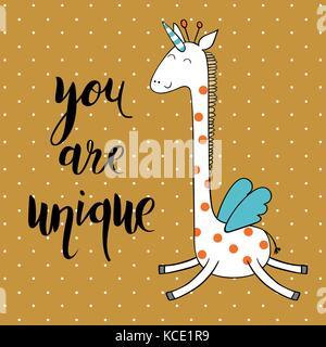 Magic cute giraffe - Stock Photo