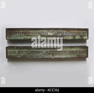 Bronze furniture attachments with silver inlay, 1st century B.C.–early 1st century A.D - Stock Photo