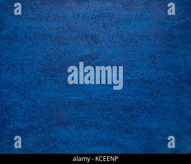 background from a textured plaster of bright blue color. art background - Stock Photo