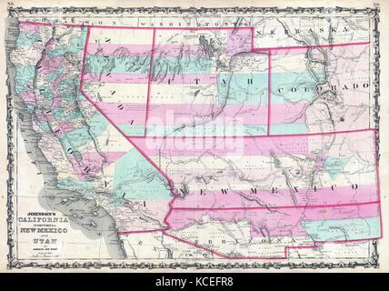 California nevada utah arizona map labelled black for California chiude l utah