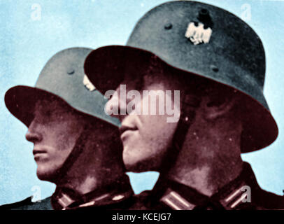 German soldiers during the re-armament of Germany circa 1936 - Stock Photo