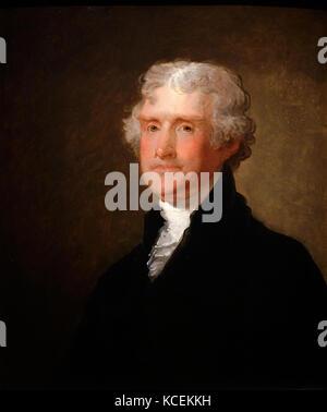 Portrait of Thomas Jefferson (1743-1826) an American Founding Father, President of the United States and author - Stock Photo