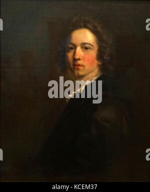 Self-Portrait' by Sir Joshua Reynolds (1723-1792) an English portrait painter of the 'Grand Style'. Dated 18th Century - Stock Photo