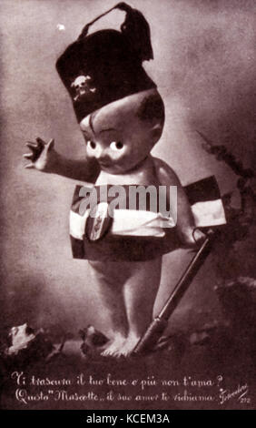 Italian fascist propaganda postcard produced during the Second World War. Dated 20th Century - Stock Photo