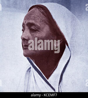 Kasturba Mohandas 'Kasturba' Gandhi (1869 – 1944) wife of Mohandas Karamchand Gandhi. In association with her husband, - Stock Photo