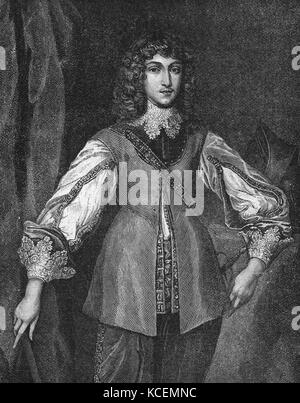 Rupert, Count Palatine of the Rhine, Duke of Bavaria, Duke of Cumberland, Earl of Holderness (1619 – 1682), was - Stock Photo
