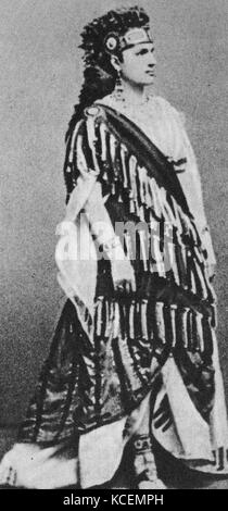 Teresa Stoltz (1834 – 1902), was a Bohemian soprano, long resident in Italy, who was associated with significant - Stock Photo