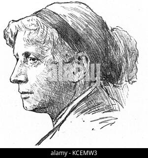 Harriet Elisabeth Beecher Stowe (1811 – 1896) was an American abolitionist and author. - Stock Photo