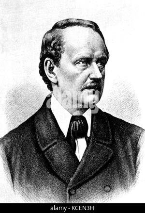 Matthias Jakob Schleiden (5 April 1804 – 23 June 1881) was a German botanist and co-founder of the cell theory, - Stock Photo