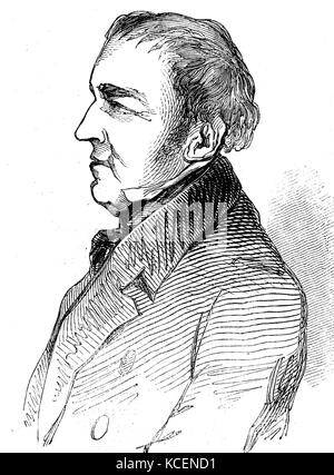 Portrait of Anthony Ashley-Cooper, 7th Earl of Shaftesbury (1801-1885) an English politician, philanthropist, and - Stock Photo