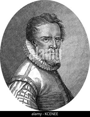 Portrait of Ludwig Senfl (1486-1543) a Swiss composer of the Renaissance. Dated 16th Century - Stock Photo