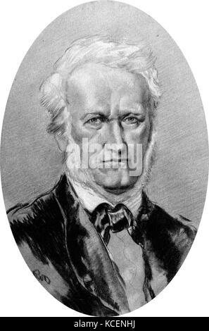 Portrait of Wilhelm Richard Wagner (1813-1883) a German composer. Dated 19th Century - Stock Photo
