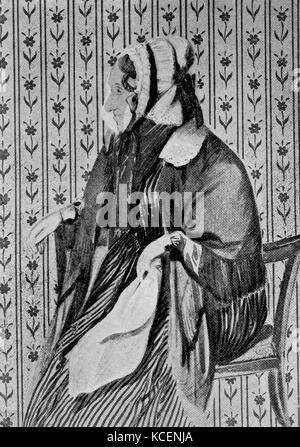 Portrait of Johanna Rosine Wagner (1774-1848) mother of the German composer Wilhelm Richard Wagner (1813-1883). - Stock Photo