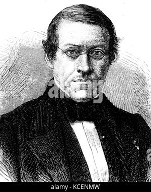 Portrait of Charles Wheatstone (1802-1875) an English scientist and inventor during the Victorian Era. Dated 19th - Stock Photo