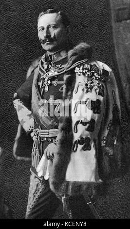 Photograph of Emperor Wilhelm II (1859-1941) King of Prussia and German Emperor. Dated 20th Century - Stock Photo