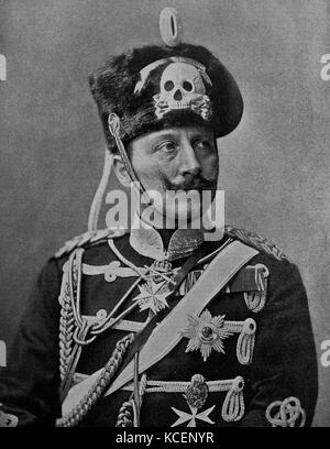 Photograph of Emperor Wilhelm II (1859-1941) King of Prussia and German Emperor. Dated 19th Century - Stock Photo