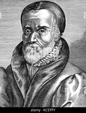 Portrait of William Tyndale (1494-1536) an English scholar, translator and leading figure in Protestant reform. - Stock Photo