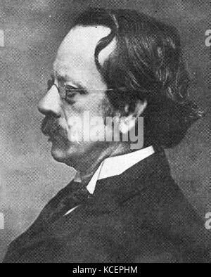 Portrait of J. J. Thomson (1856-1940) an English physicist and Noble Prize laureate in Physics. Dated 20th Century - Stock Photo