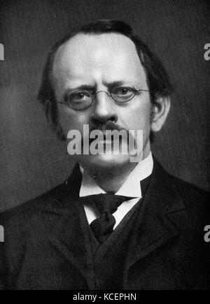 Photograph of J. J. Thompson (1856-1940) an English physicist and Noble Prize laureate in Physics. Dated 20th Century - Stock Photo