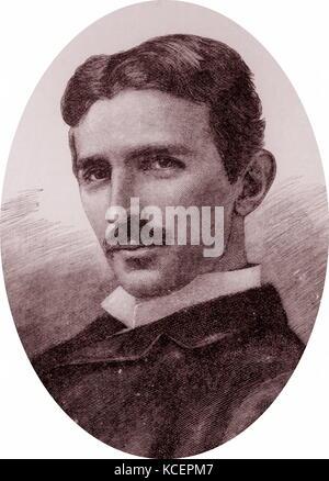 Illustration Depicting Nikola Tesla 1856 1943 A Serbian American