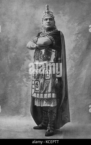 Photograph of Enrico Caruso (1873-1921) an Italian operatic tenor. Dated 20th Century - Stock Photo