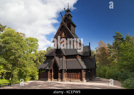 Gol Stave Church in Olso, Norway. - Stock Photo
