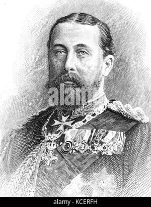 Portrait of Alfred, Duke of Saxe-Coburg and Gotha (1844-1900) son of Queen Victoria and Prince Albert. Dated 19th - Stock Photo