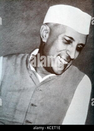 Jawaharlal Nehru (1889 – 1964) was the first Prime Minister of India - Stock Photo