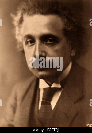 Albert Einstein (1879 – 1955), a German-born theoretical physicist. He developed the general theory of relativity, - Stock Photo