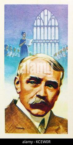 1969 Brooke Bond collectors tea card, depicting: Sir Edward William Elgar, 1st Baronet OM GCVO (2 June 1857 – 23 - Stock Photo
