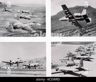 Photographs of the USAF/ Fairchild A-10 ground attack aircraft, the new anti-armour plane being delivered to the - Stock Photo
