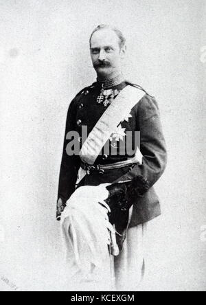 Photograph of King Frederick VIII (Christian Frederik Vilhelm Carl) (3 June 1843 – 14 May 1912) was King of Denmark - Stock Photo